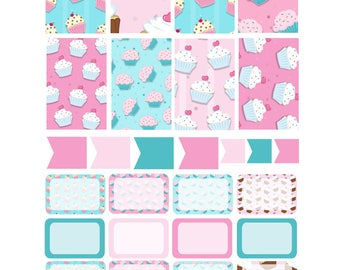 CUPCAKES Weekly Planner Sticker Kit/Printable's Happy Planner Classic Instant Download /