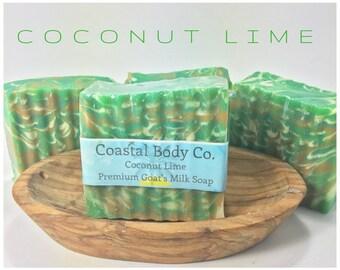 Goat Milk Soap, Coconut Lime Soap, Vegan Soap, Coconut Soap, All Natural Soap, Lime Soap, Homemade Soap, Womens Soap, Florida Soap, Unisex