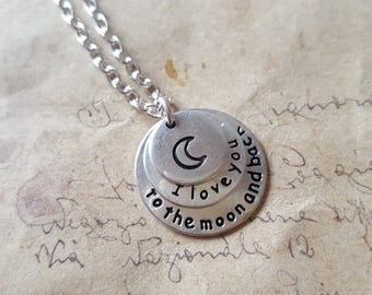 To the moon & back chain No.. 2 ~ silver ~