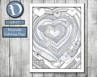 CP-17 // Printable Coloring Page - Adult Coloring Page - Kids Coloring Page - Instant Download - Digital Download - Coloring Page - Color