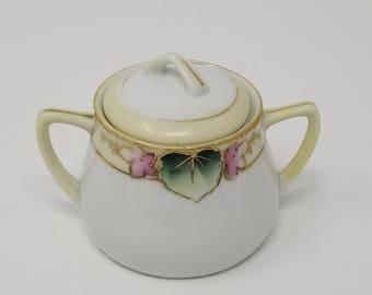 Vintage Nippon Morimura Beaded Sugar Bowl