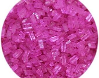 Fuschia Sugar Crystals
