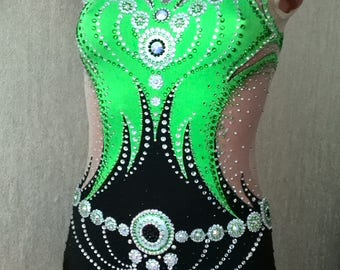 Malachite Gymnastics Leotard
