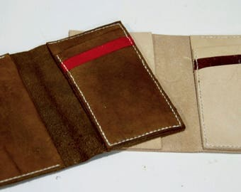 Summer Special: Couples' Set Brown & Tan Teratorn Leather Wallet