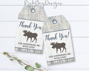 Woodland Thank You Tag, Woodland Shower Thank You, Rustic Thank You Tag, Rustic Baby Shower Thank You, Instant Download, Rustic Favor Tag