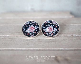 "Stud earrings ""Black Autumn""-16 mm/pair"