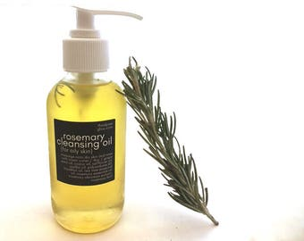 Rosemary Oil Cleanser - Cleansing Oil - Vegan Skincare - Oil Washing - Face Cleanser - Oil Face Wash - Cleanse Oil - Vegan Makeup Remover