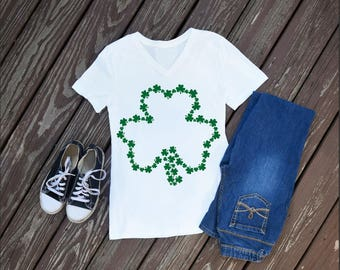 Four Leaf Clover Women's T-Shirt, St. Patricks Day Shirt