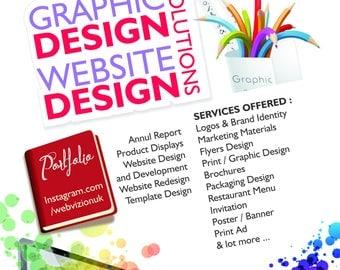Business Flyer Design, Custom Flyer, Party Flyer, Kids Flyer, Poster Design, Summer camp flyer, Restaurant Flyer