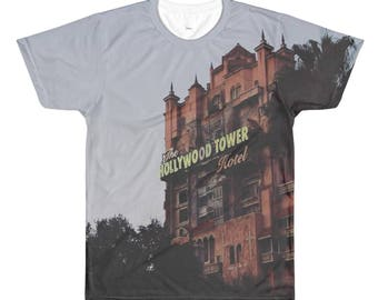 Tower of Terror All Over Printed Tee. Hollywood Studios Shirt.