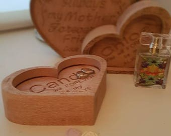 Personalised/ personalized Heart / Valentine's Day / Anniversary/ Wedding