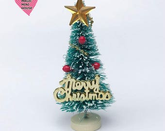 Dolls House Miniature Decorated Christmas Tree