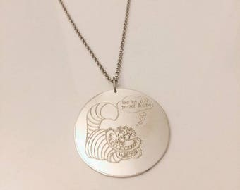 Cheshire cat 925 Silver Pendant Necklace
