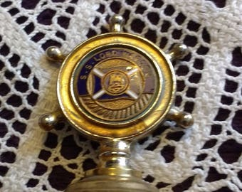 Rare Vintage Collectible Brass Bell for the SS Lord Warden British Railway Ship