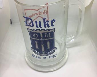 Duke Class of 1987 Beer Stein Budweiser