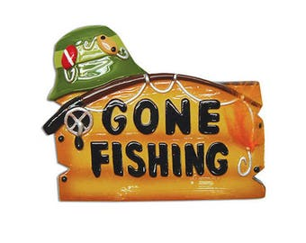 Gone Fishing Fisherman Personalized Christmas Ornament, Fishing Christmas Ornament, Christmas Decoration for Tree, Christmas Tree Ornament