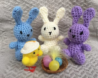 Handmade Crochet Easter Bunny Toy