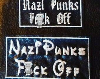 Nazi Punks F*ck Off Patch