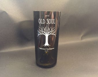 HANDCRAFTED Candle UP-CYCLED Old Soul Cabernet Sauvignon Lodi Wine Bottle Soy Candle. Made To Order !!!!!!!