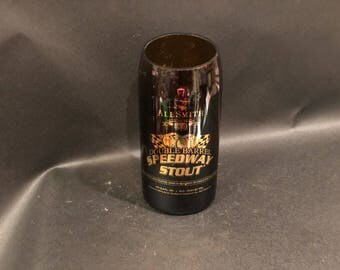 HANDCRAFTED Up-Cycled 750ML Bomber Alesmith Double Barrel Speedway Stout Beer Bottle Candle. Made To Order !!!!!