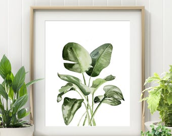 Affiche Scandinave, Boho gift for sister, Palm leaf print, trending now, Definition print, Plants are friends, Above bed, Fern plant print
