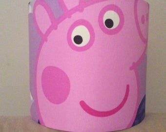 Peppa Pig Fabric Handmade Lampshade Various sizes Ceiling or Tableside