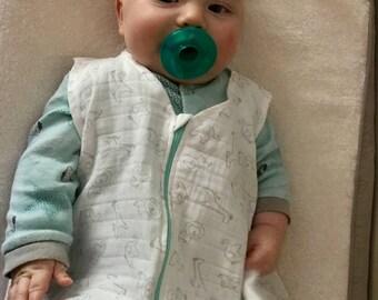 Cotton Muslin Baby Sleep Sack - size 6-12 months