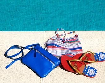Lilou blue Clutch bag