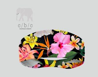 Floral headband, Non Slip Headband, Extra Wide Band, Wide Headband, Thin Headband, Yoga Headband, Fitness Headband, Adult Headband, Custom