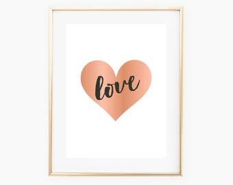 Love Digital Print, Love Art, Love Wall Printable, Love Decor, Digital Download Art, Love Art, Wall Print Download, Love Nursery, Love Art