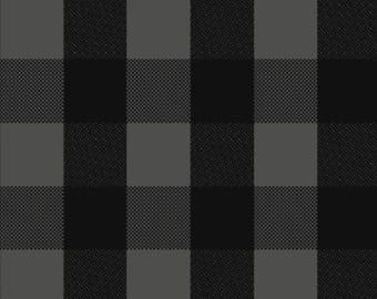Black and Gray buffalo plaid Knit