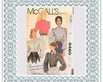 McCalls 8460 (1983) Misses' blouses - Vintage Uncut Sewing Pattern