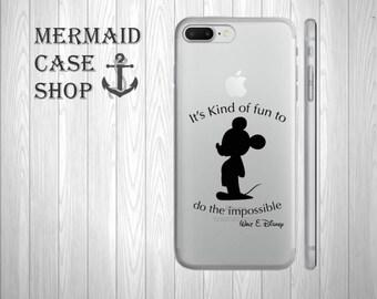 Mickey iphone 8 7 6 6s plus case disney quote/DC 587
