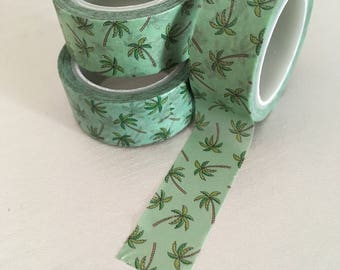 Palm tree washi tape, tropical washi tape