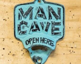 Man cave bottle opener, beer opener, man cave, gift for him, stocking stuffer, Christmas gift