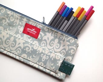 Feminine Pencil Case with Ruler, Office Supplies, Stationery for Her, Stationery Accessories for School, Soft Pencil Bag for Arts and Crafts
