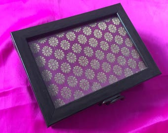 Pink Wooden box medium [N0136]