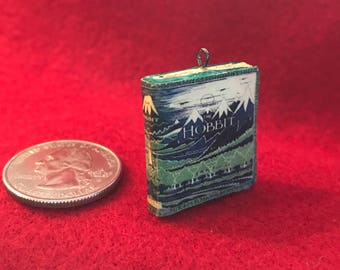 Miniature book The Hobbit -- Charm / Pendant
