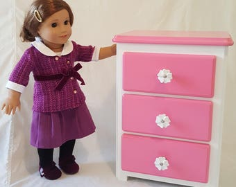 American Girl Doll Furniture Pink Dresser Storage