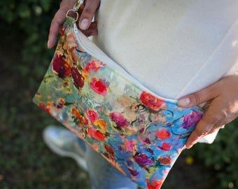 Fabric shoulder bag