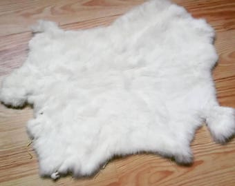 white Rabbit Pelt - sewing tribal crafts medicne bags altar totem fur clothesmaking viking pagan shaman druid witch animism