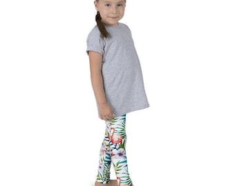 Flamingos and Palm Trees Kid's leggings