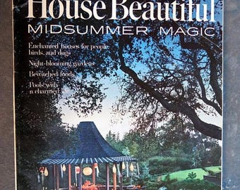S House Beautiful June 1965 Magazine Midsummer Magic Issue