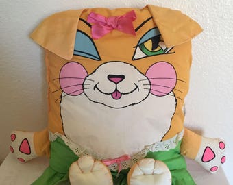 1985 Pillow People Winking Cat