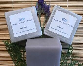 Lavender Organic soap Plus FREE SHIPPING