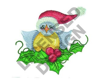 Santa Bird - Machine Embroidery Design