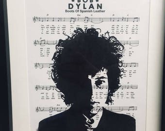 Bob Dylan sheet music art