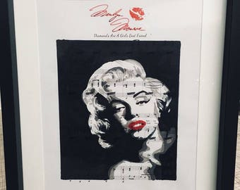 Marylin Monroe sheet music art