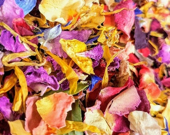 Classic Rainbow Biodegradable wedding Confetti Red, Yellow, pink, Purple 100% Natural