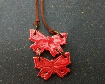 ceramic necklace with pendant